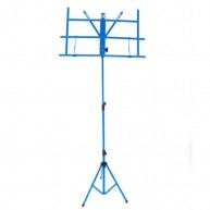 Profile Model MS033BLP  Blue Folding 3 Section Sheet Music Stand W/Carrying