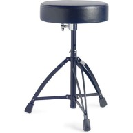 Stagg Model DT-32BK Black Chrome Double Braced Heavy Duty Drum Throne 4 Dru