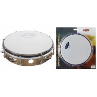 "Stagg TAB-108P-WD - 8"" Tuneable Plastic Tambourine w/1 Row of Jingles - Bro"