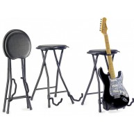 Stagg Model GIST-300 Foldable Stage Insturment Stool with Built in Guitar S