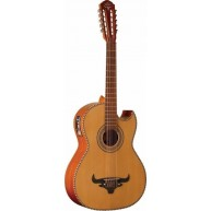 Oscar Schmidt OH42SE-O Solid Top 10-String Bajo Quinto Acoustic Electric Gu