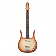 Danelectro Longhorn Vintage Style Electric Guitar in Copperburst Finish - N