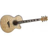 Dean PE UQA GN Performer Ultra Quilt Acoustic-Electric Guitar  Natural Fini