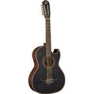 Oscar Schmidt OH32SEQTB Trans Black Acoustic Electric Maple Top Bajo Quinto