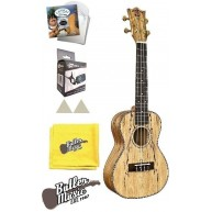 Snail by Amahi Spalted Maple Concert sz Ukulele w/Gig Bag , Picks, Strings