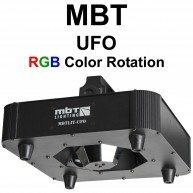 LED UFO RGB Color Rotating FX Uplight or Downlight model MBTLIT-UFO - DJ, P