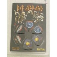 Def Leppard Officially Licensed Guitar 6 Pack of Picks Collectable Perri's
