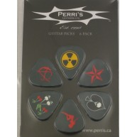Pack of 6 Perri's Skulls Guitar Picks in Collectible Clamshell #LP-PL8 Hall