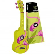 Stagg Model US-FLAMINGO Yellow Soprano Ukulele with Gig Bag in 4 color box