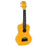 "Kohala ""TIKI"" Yellow Concert Size Ukulele with Built in Tuner Model #KT-CTY"