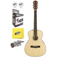 Fender CT-60S Solid Spruce Top Acoustic Travel Guitar w/Effin Tuner & More