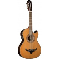 Oscar Schmidt OH32SE Acoustic Electric Bajo Quinto with Gig Bag - Natural -
