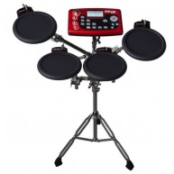 DDrum Model DD2XS Digital Drum 4 Pad Sample Station in Red and Black Finish