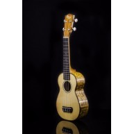 Ohana Model SK-70WG Solid Spruce top Soprano Ukulele with Willow Back and S