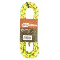 "Effin Guitars FNG20VTYL - 20FT 1/4"" Yellow Vintage Tweed Instrument Cable -"