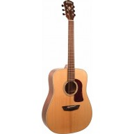 Washburn Heritage Series HD100SWK Acoustic Dreadnought Solid Wood Guitar w/