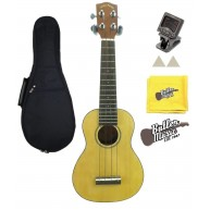 Lucky Penny LP286S Soprano Ukulele w/ Tuner, Felt picks, Gig bag & Polish C