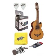 Oscar Schmidt OH52SE Solid Top Acoustic Electric Bajo Sexto Effin Tuner Bun