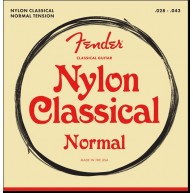Fender Classical Nylon Clear/SilverGuitar Strings , Tie End - .028 -.043 Ga