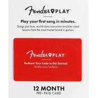 Fender Play 12 Month Subscription for Beginner Acoustic Electric Guitar Les