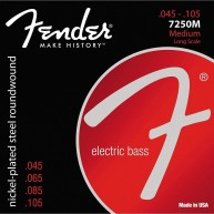 Fender 7250M Nickel Plated Steel Long Scale Bass Strings Gauges .045 -.105