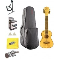 Amahi UK770C-EQ Concert Spalted Maple Acoustic Electric Ukulele with Case B
