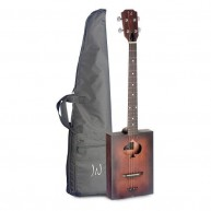 James Neligan Cask Firkin Acoustic 4 String Cigar Box Guitar with Gig Bag