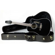 Takamine EF381SC 12-String Dreadnought Electric Acoustic Guitar with Case -