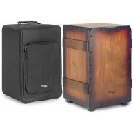 Stagg Crate Style Cajon Drum With Case Brown Sunburst - Model CAJ-CRATE SBB