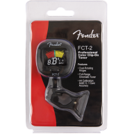 Fender FCT-2 Color LCD Chromatic Clip-On Tuner for Guitar, Uke, Bass, and M