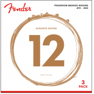 Fender 60XL Phosphor Acoustic Guitar Strings 3-Pack Extra Light Gauge 10-48