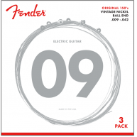 Fender 150L Pure Nickel Ball End Electric Guitar Strings 9-42 -  3 Pack