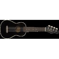 Fender California Venice Soprano Size Ukulele in Black Finish #0971610506 -