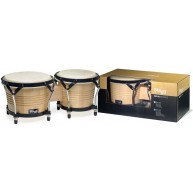 Stagg Model BW-200-N Natural 7.5-Inch & 6.5-Inch Latin Wood Bongo Hand Drum