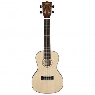 Kala KA-SSTU-C Thin Concert Travel Solid Spruce Top Ukulele with Deluxe Gig