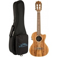 Lanikai ACST-6CET Solid Top Acacia 6 String Tenor Acoustic Electric Ukulele
