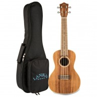 Lanikai Model ACST-C Concert Size Solid Acacia Top Ukulele with Deluxe Gig