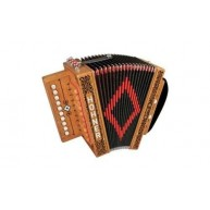 New Hohner CAJUN IV 10 Key Button One Row Cajun Diatonic Accordion
