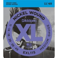 D'Addario Model EXL115 Blues/Jazz Rock Nickel Wound Electric Guitar Strings
