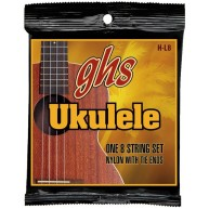 GHS H-L8 Ukulele Strings Nylon With Tie Ends 8 String Set