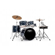 Mapex RB5844FTCYB Rebel 5 Piece Royal Blue Drum Kit w/Cymbals, Throne + Har