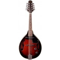Stagg Model M50E Acoustic/Electric 'A' Style Mandolin in a Redburst Finish