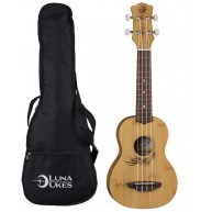 Luna Uke Bamboo Series Soprano Size Acoustic Ukulele with Gig Bag