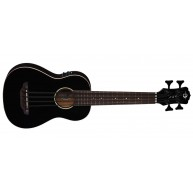 Luna Model UKE BBASS CBK Classic Black Acoustic Electric Bari-Bass with Gig