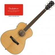 Fender Paramount PM-TE Travel Acoustic Electric Guitar w/Case, 3-mos Play B
