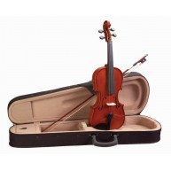 Academy 4-String 3/4 Size Violin, Polished Gloss Finish, Case and Bow #145A