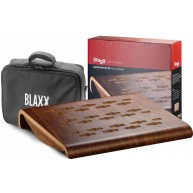 Blaxx by Stagg Wood Effects Pedal Board with Carrying Bag #BX WOOD PDLBD