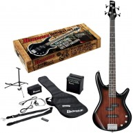 Ibanez IJXB150 Ibanez IJXB150 Jumpstart Bass Pack with Amp and More, Walnut