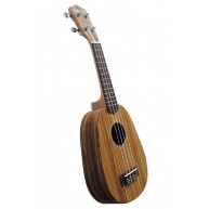 Suzuki Model PA-ZB Pineapple Body Soprano Ukulele, Zebrawood Body w/Padded