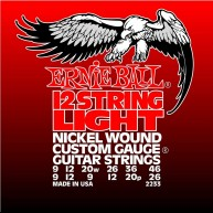 Ernie Ball 12-string Light Nickel Wound Set, .009 - .046  Model #2233